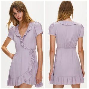 Aritzia | Sunday Best | Lilac Ruffle Wrap Dress